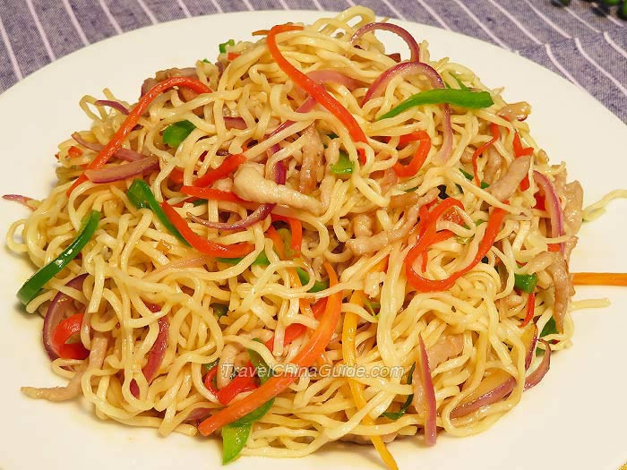 Chow Mein Stir Fry Noodles  Chinese Chow Mein Stir fried Noodles Recipe