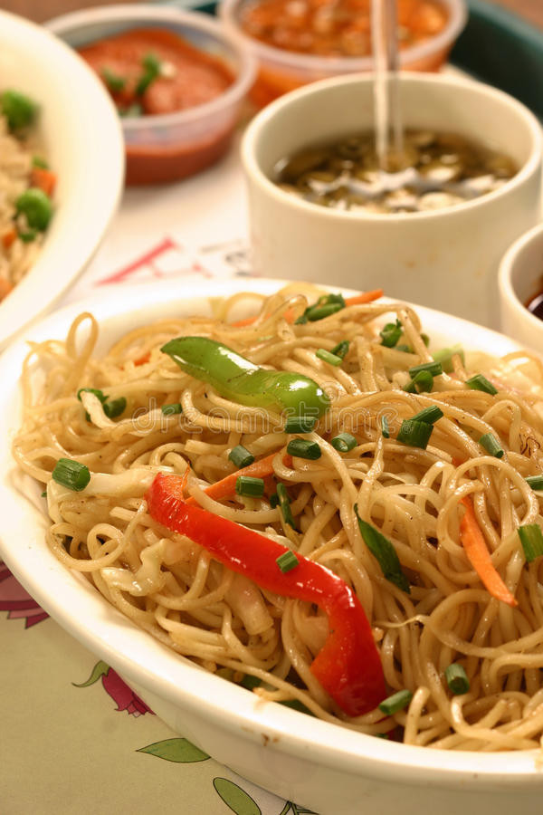 Chow Mein Stir Fry Noodles  Chow Mein Is A Chinese Term For Stir fried Noodles Stock