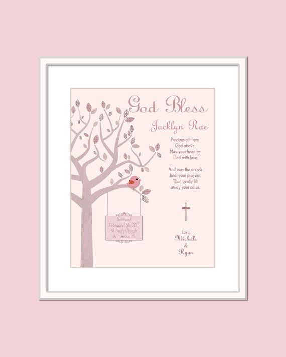 Christian Baby Gifts Personalized  Christian Baby Gift Girl Baptism Gift Personalized