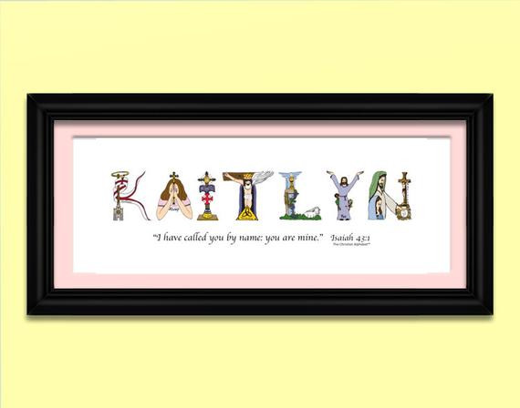 Christian Baby Gifts Personalized  Religious Baby Gift Wall Art Nursery Personalized Nursery