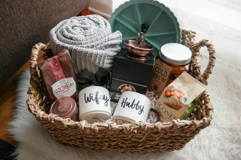 Christmas Gift Ideas For Newly Engaged Couple  A Cozy Morning Gift Basket A Perfect Gift For Newlyweds