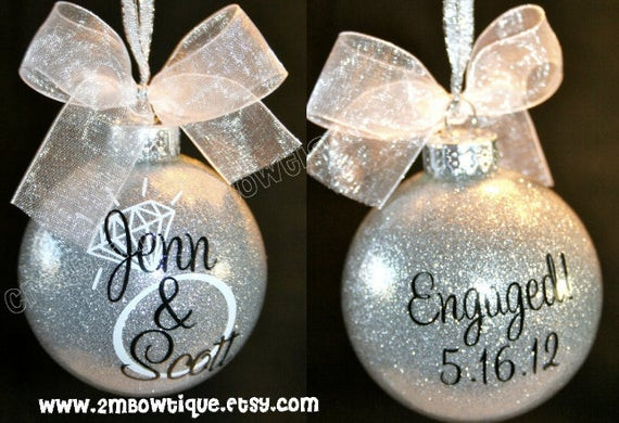 Christmas Gift Ideas For Newly Engaged Couple  Great Engagement Gift Idea Christmas Ornament for by