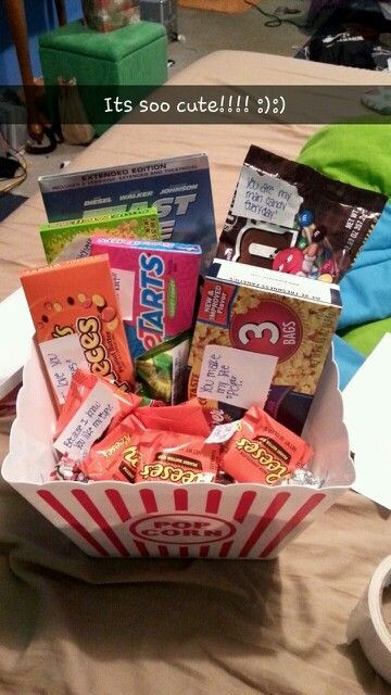 Christmas Gift Ideas For Teenage Boyfriends  Boyfriend Christmas t idea a t basket full of