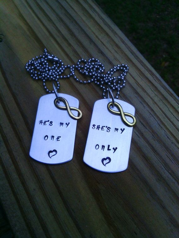 Christmas Gift Ideas For Teenage Boyfriends  Hand Stamped Necklace with charm Father s Day by