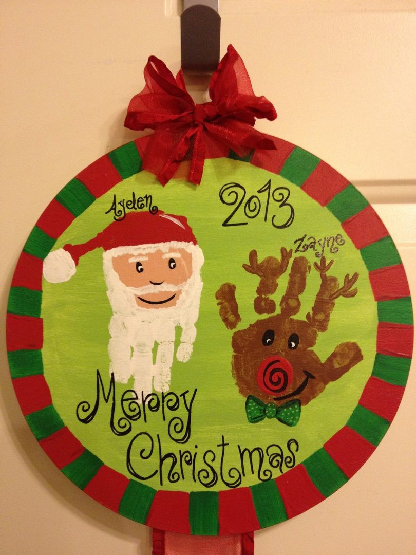 Christmas Painting Ideas For Kids  21 Cute and Fun Christmas Handprint and Footprint Crafts