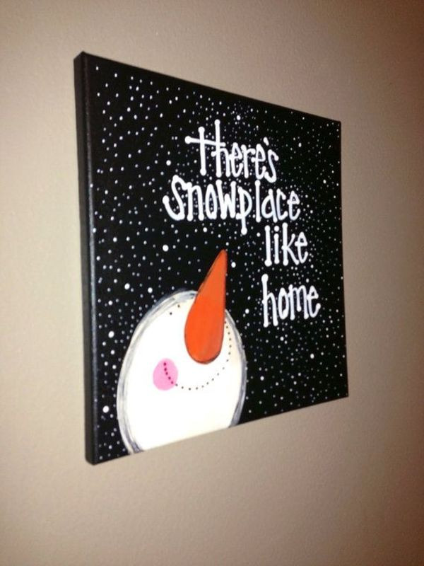 Christmas Painting Ideas For Kids  Canvas Painting Projects DIY Ideas