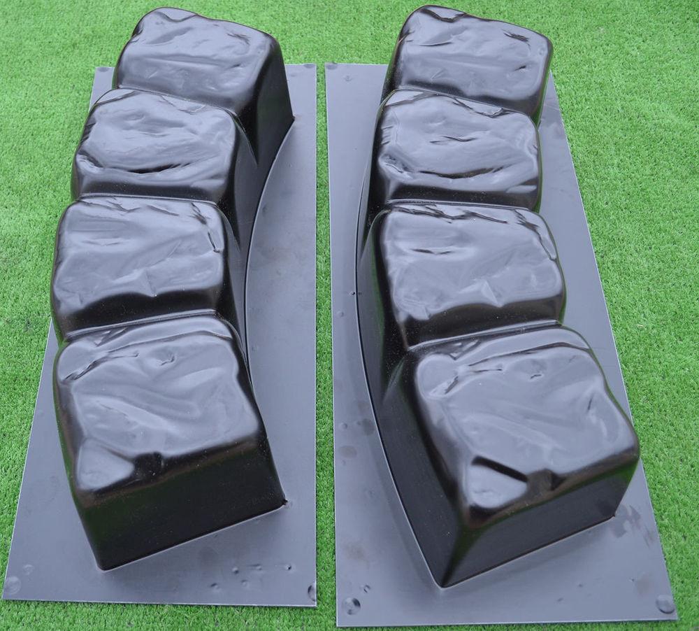 Concrete Landscape Edging Molds  2 MOLDS 47 2 inch ROUND EDGE STONE CONCRETE MOLD Edging