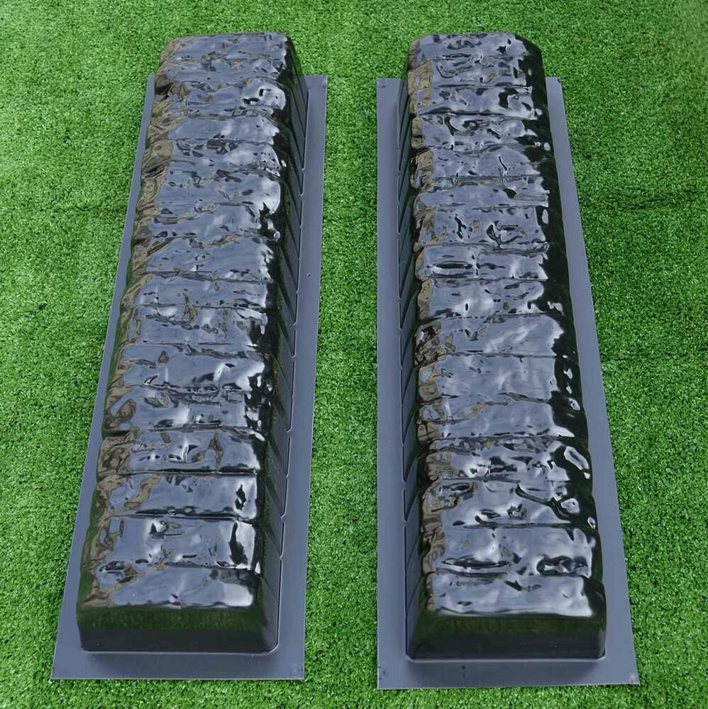 Concrete Landscape Edging Molds  2pcs EDGE STONE CONCRETE MOLDS Log Edging Border Mould ABS