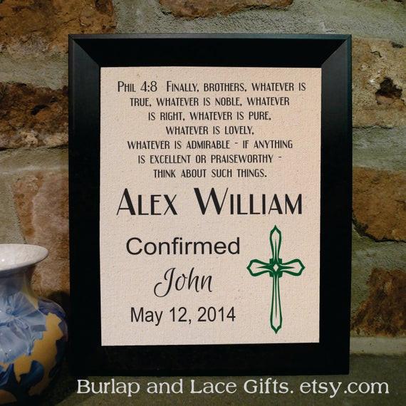 Confirmation Gift Ideas Boys  Confirmation Gift for Boy Framed by BurlapandLaceGifts on Etsy