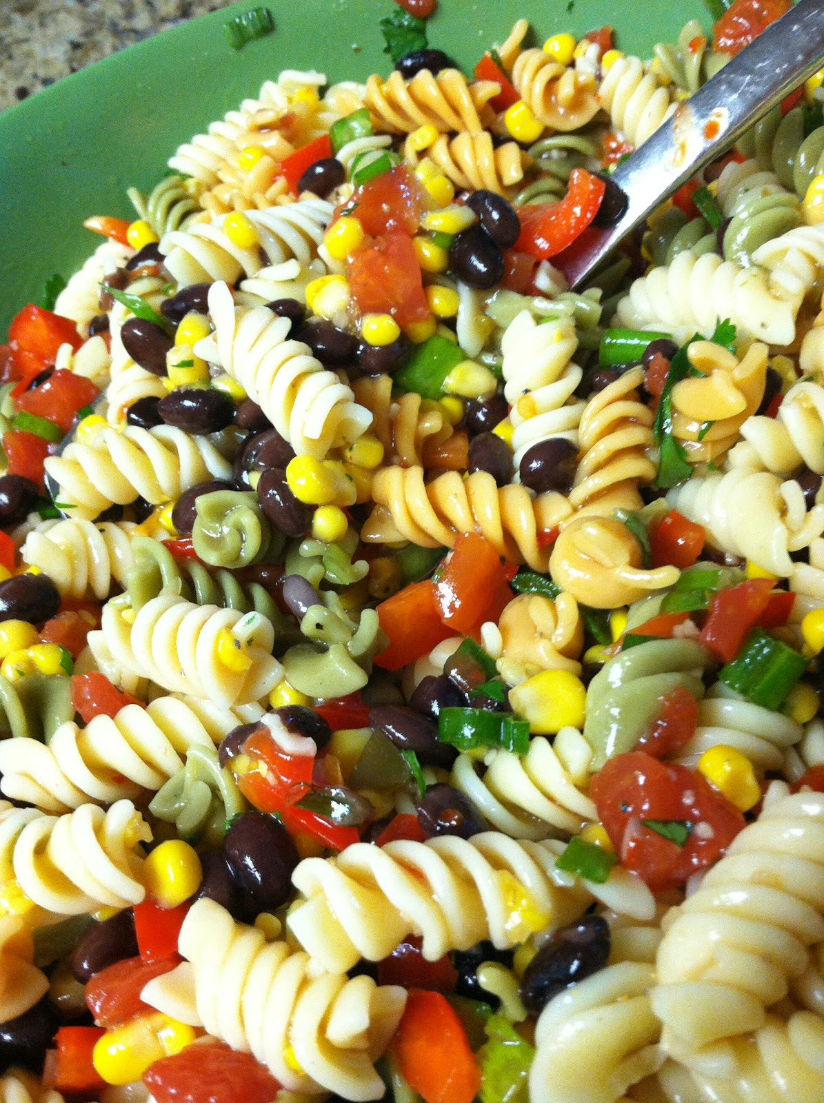 Corn Pasta Salad  Dream Home Cooking Girl My Black Bean & Corn Pasta Salad