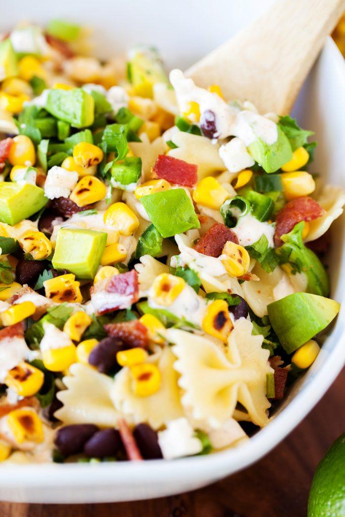 Corn Pasta Salad  Corn Pasta Salad VIDEO I Am Homesteader