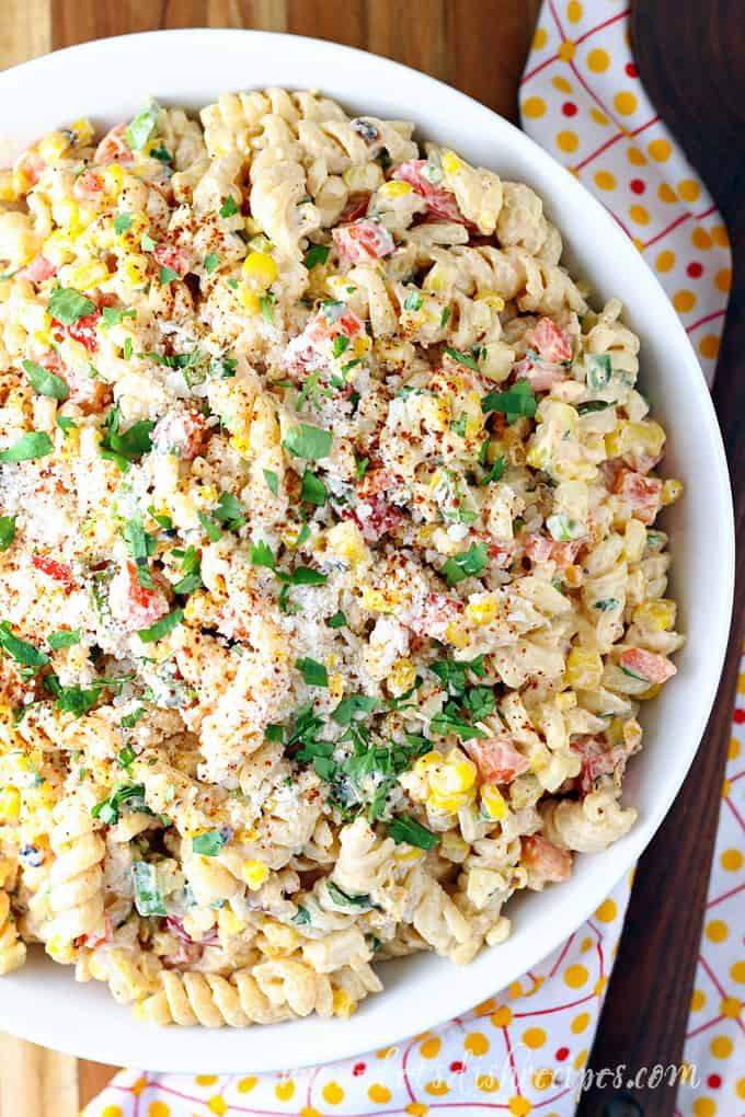 Corn Pasta Salad  Mexican Street Corn Pasta Salad