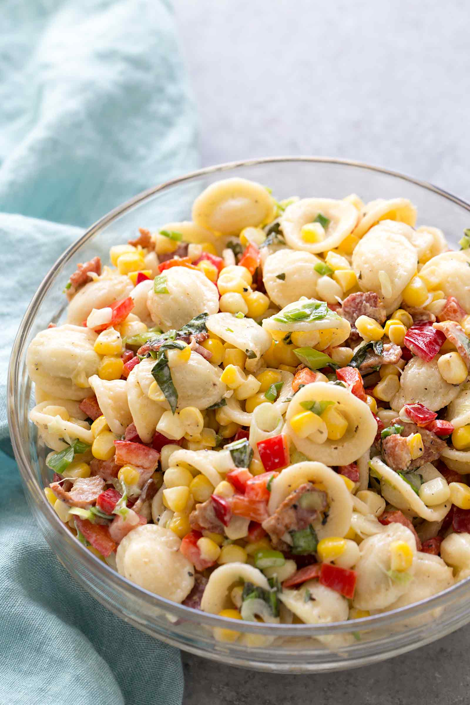 Corn Pasta Salad  Pasta Salad with Corn Bacon and Buttermilk Ranch