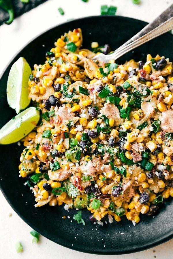Corn Pasta Salad  Mexican Street Corn Pasta Salad Chelsea s Messy Apron