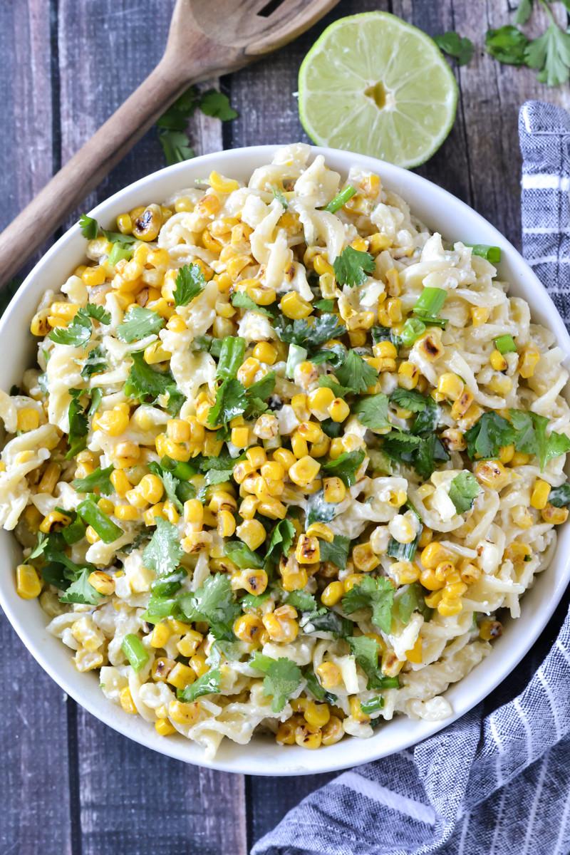 Corn Pasta Salad  Mexican Street Corn Pasta Salad Mother Thyme