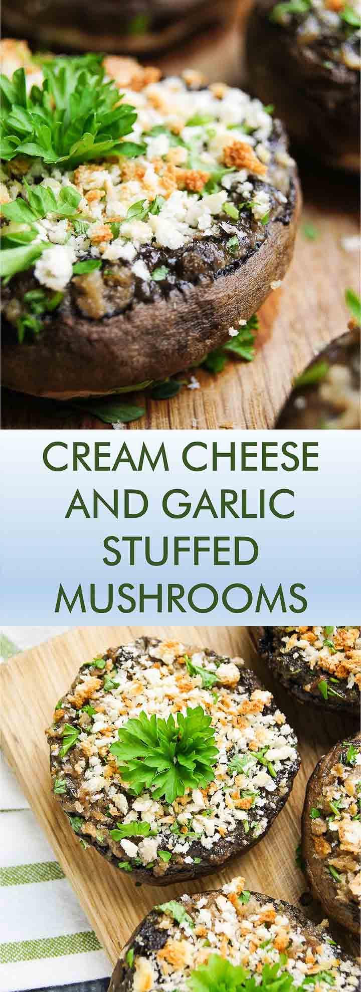 Cream Cheese Mushrooms  CREAM CHEESE AND GARLIC STUFFED MUSHROOMS