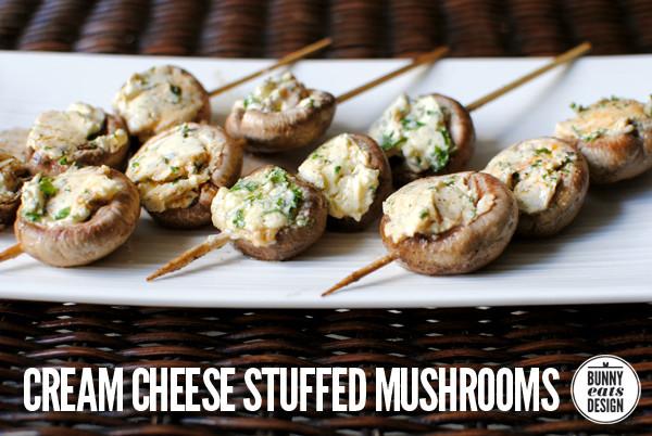 Cream Cheese Mushrooms  Cream cheese stuffed mushrooms