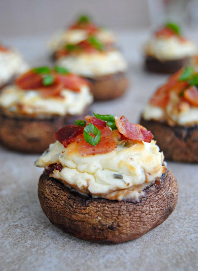 Cream Cheese Mushrooms  SteakNPotatoesKindaGurl Bacon and Spicy Cream Cheese