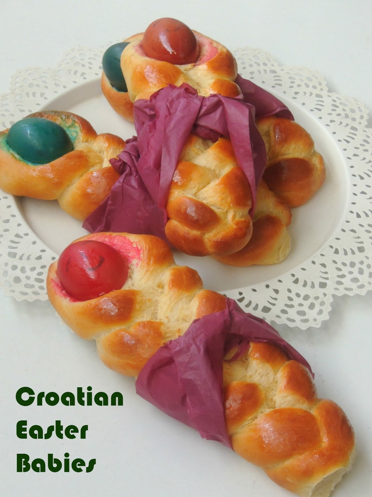 Croatian Easter Bread  Priya s Versatile Recipes Primorski Uskrsne Bebe