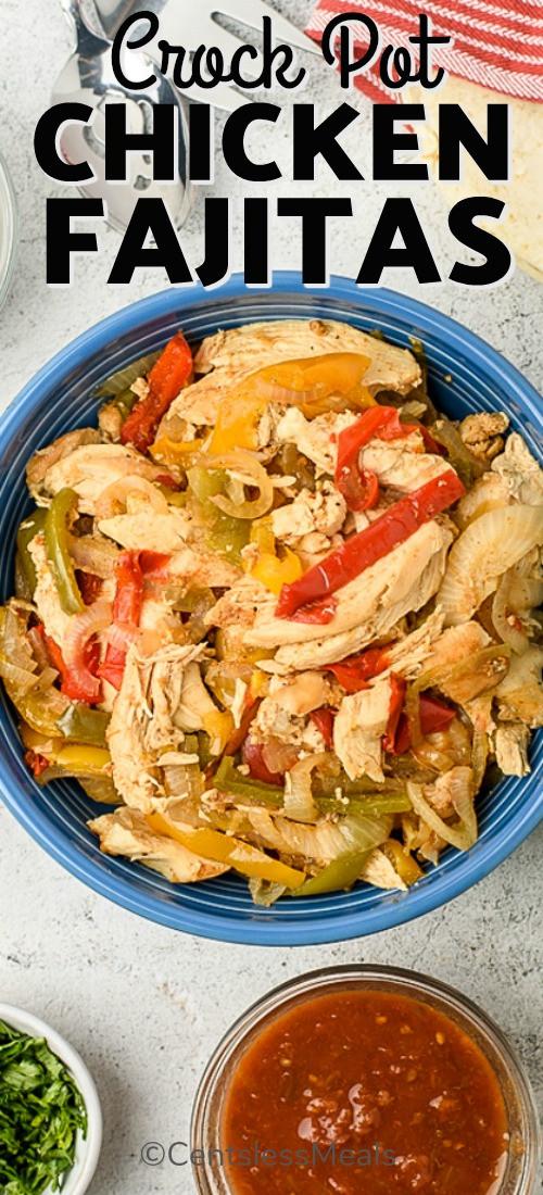 Crockpot Chicken Fajitas  Crockpot Chicken Fajitas recipe 6 ingre nts