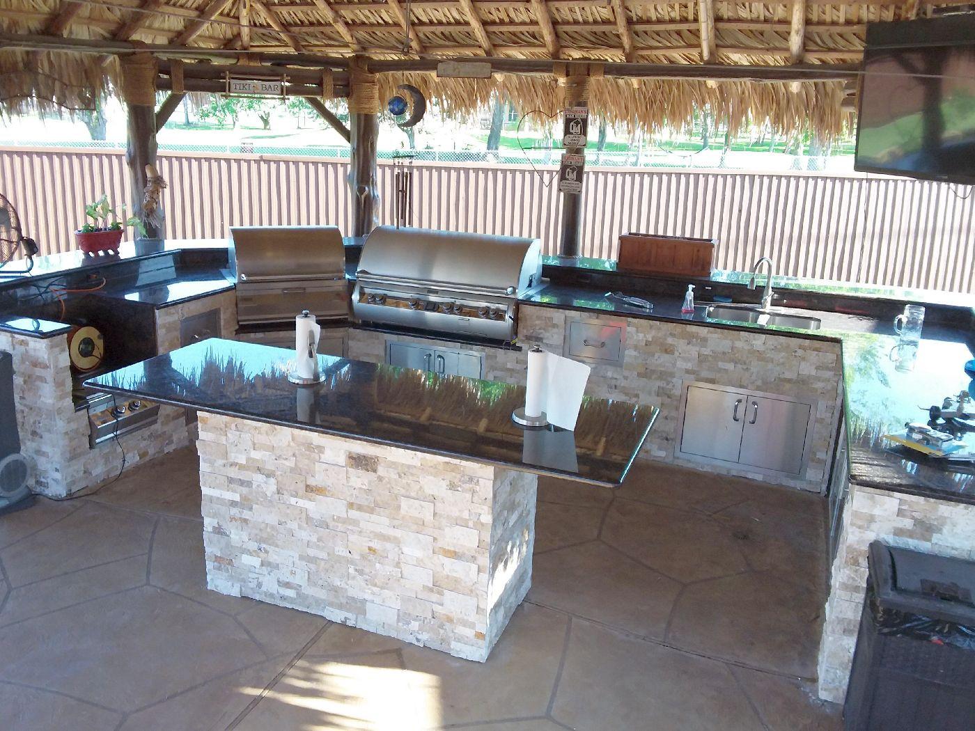 Custom Outdoor Kitchen  Outdoor Kitchens Bars Houston Outdoor Kitchen Design Sales