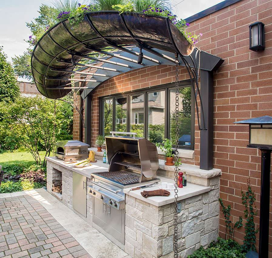 Custom Outdoor Kitchen  If you are looking for the most optimal small outdoor