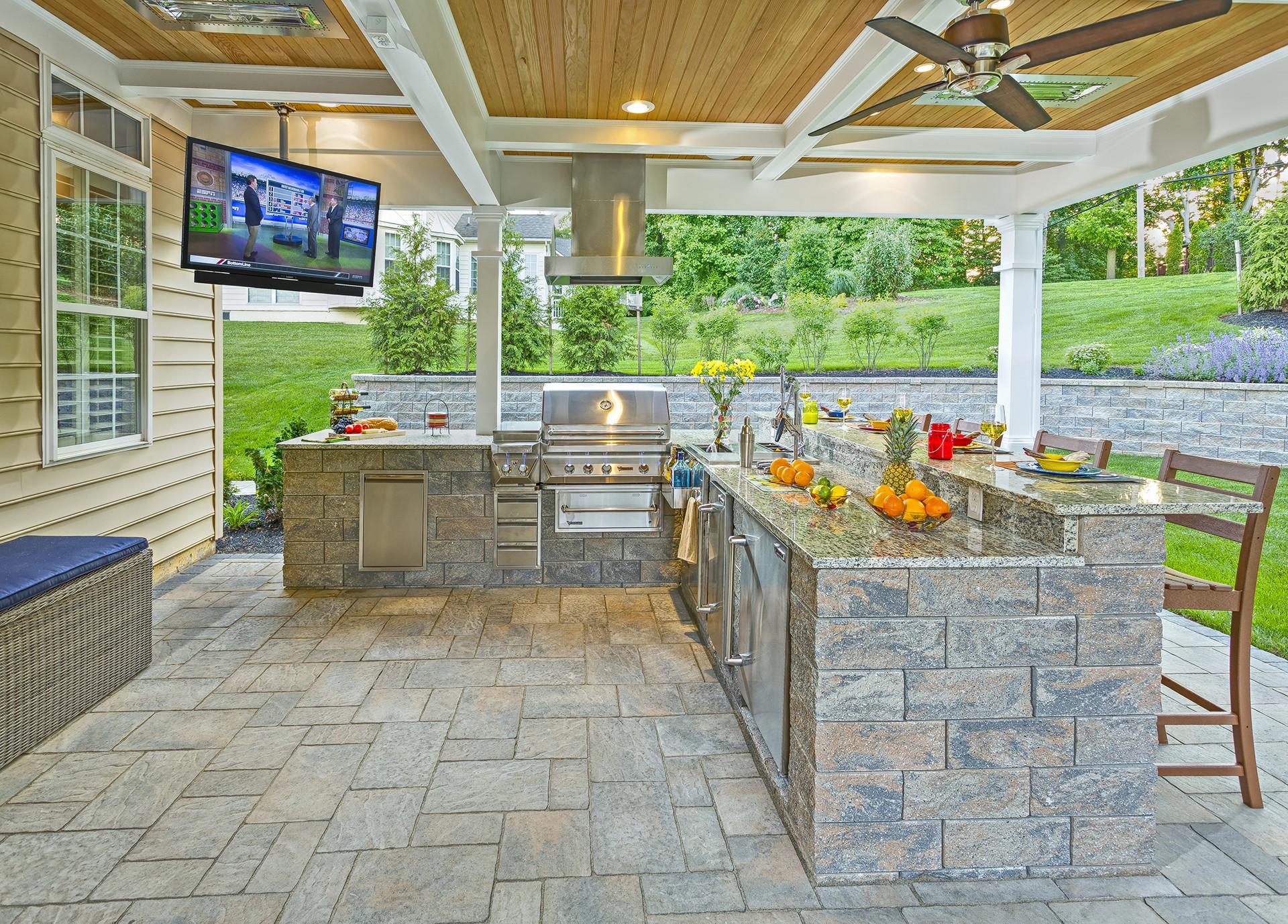 Custom Outdoor Kitchen  Custom outdoor living space designers Delaware
