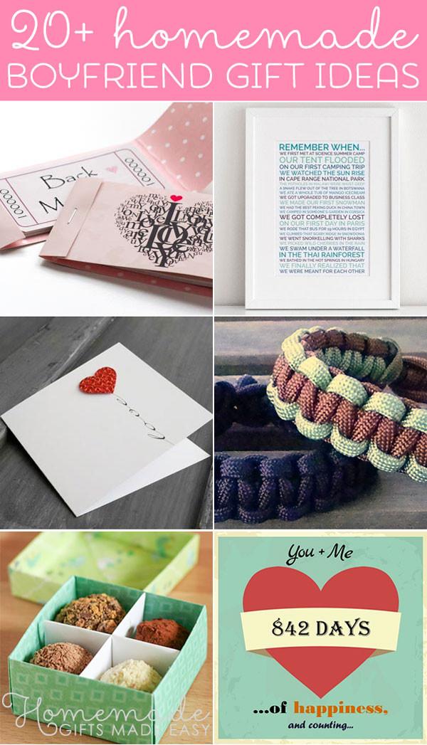 Cute Sentimental Gift Ideas For Boyfriend  Best Homemade Boyfriend Gift Ideas Romantic Cute and