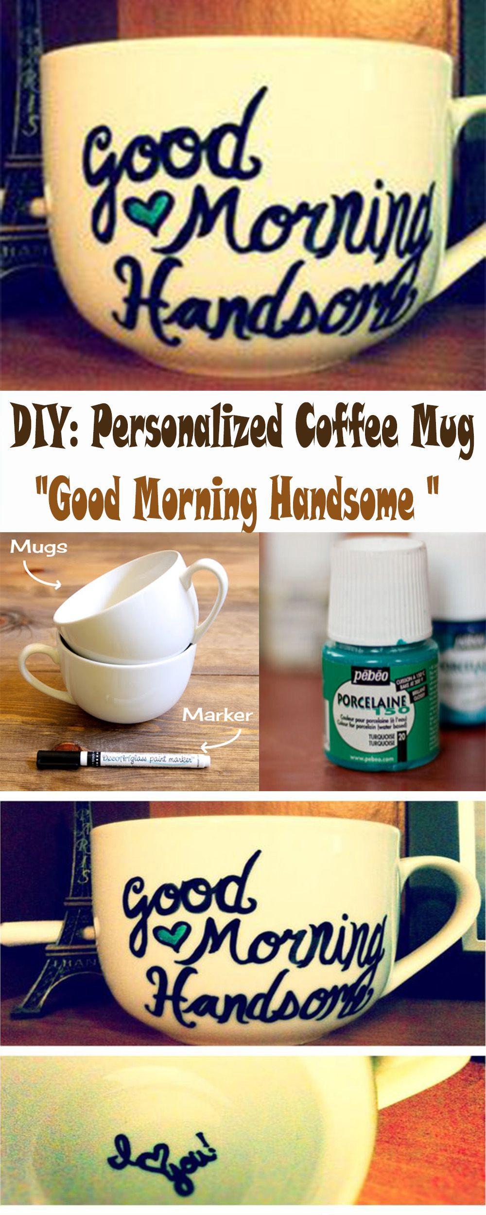 Cute Sentimental Gift Ideas For Boyfriend  DIY Personalized Coffee Mug