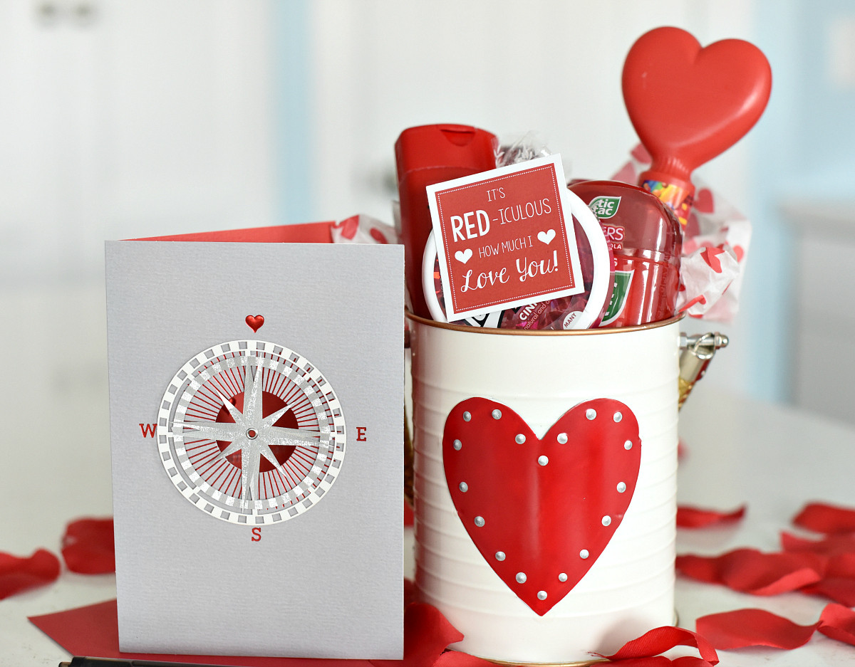 Cute Valentine Gift Ideas For Him  Cute Valentine s Day Gift Idea RED iculous Basket