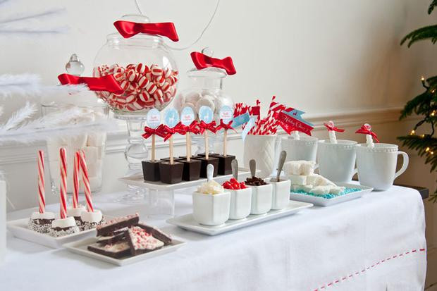 December Birthday Party Ideas  December Parties Hot Cocoa Party Christmas Candyland theme