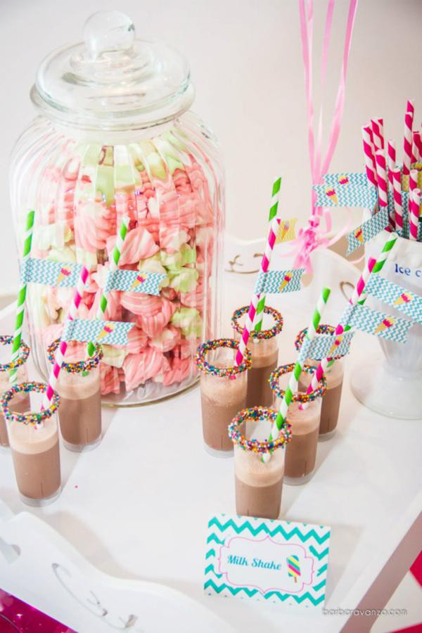 December Birthday Party Ideas  Ice Cream Shoppe Shop Girl 3rd Birthday Party Planning