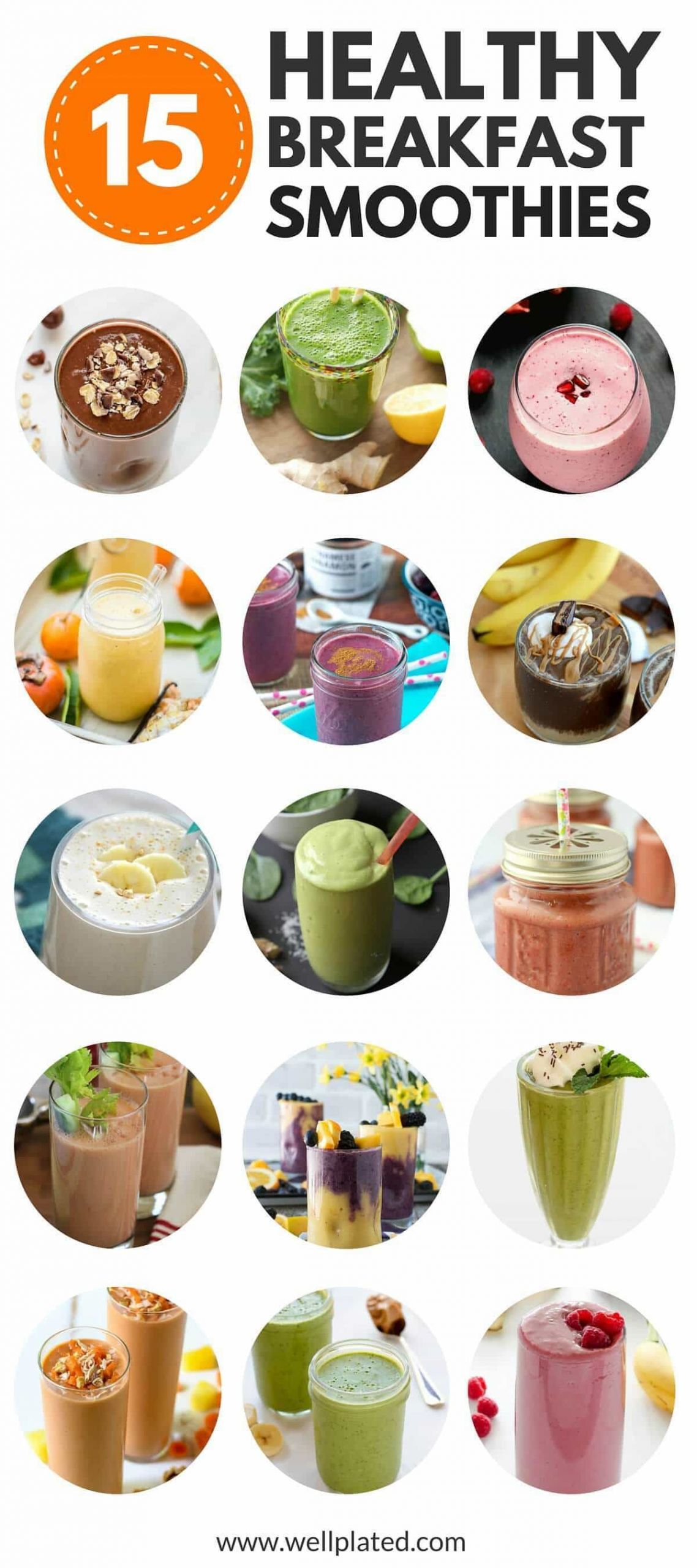 Delicious Smoothie Recipes  Healthy Breakfast Smoothies 20 of the Best Recipes