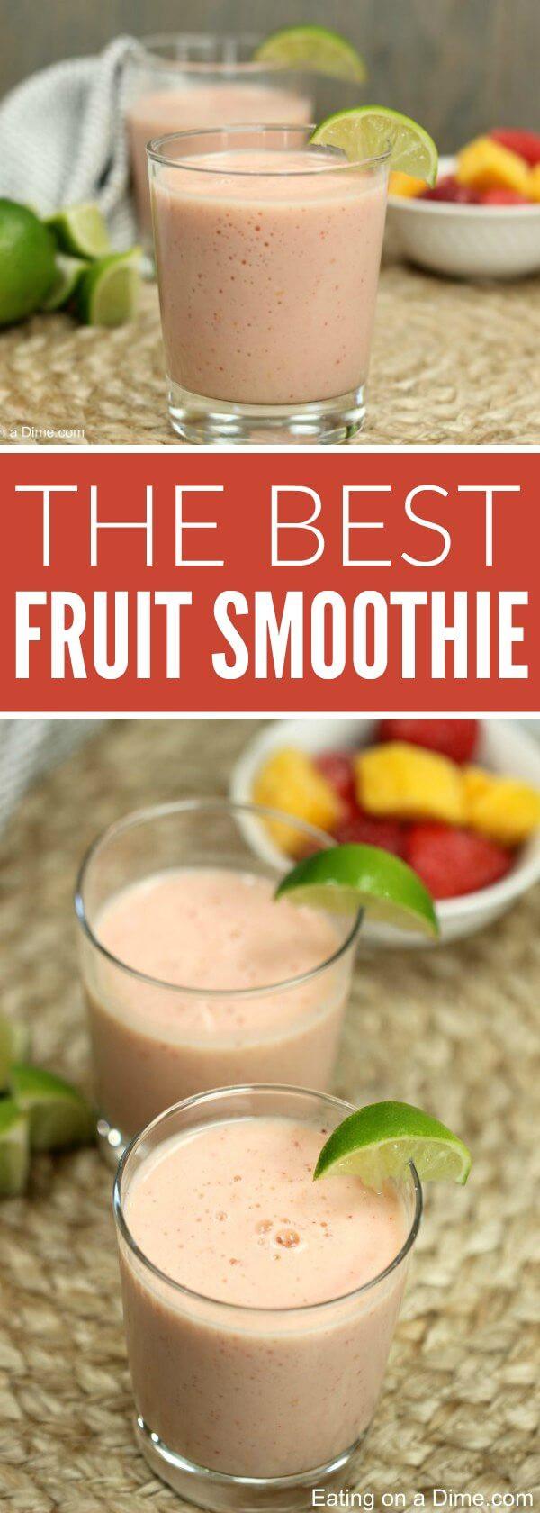 Delicious Smoothie Recipes  Easy Frozen Fruit Smoothie Recipe healthy smoothie recipe