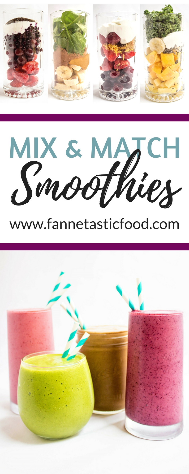 Delicious Smoothie Recipes  Mix & Match Healthy Smoothie Recipes Refreshing and