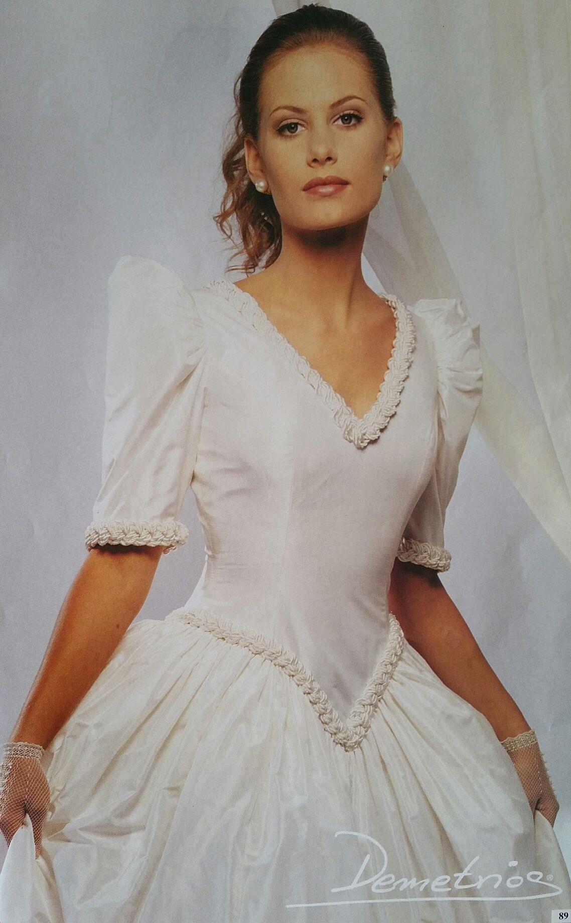 Demetrios Wedding Veils  Demetrios 1994 pure silk gown