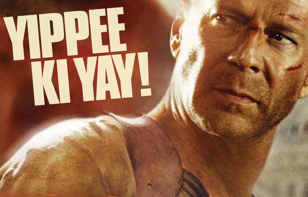 Die Hard Christmas Quotes  Bruce Willis as John McClain in Die Hard