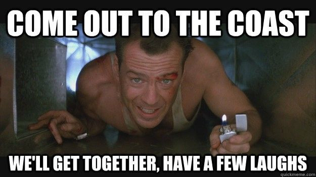 Die Hard Christmas Quotes  Bruce Willis quote from Die Hard