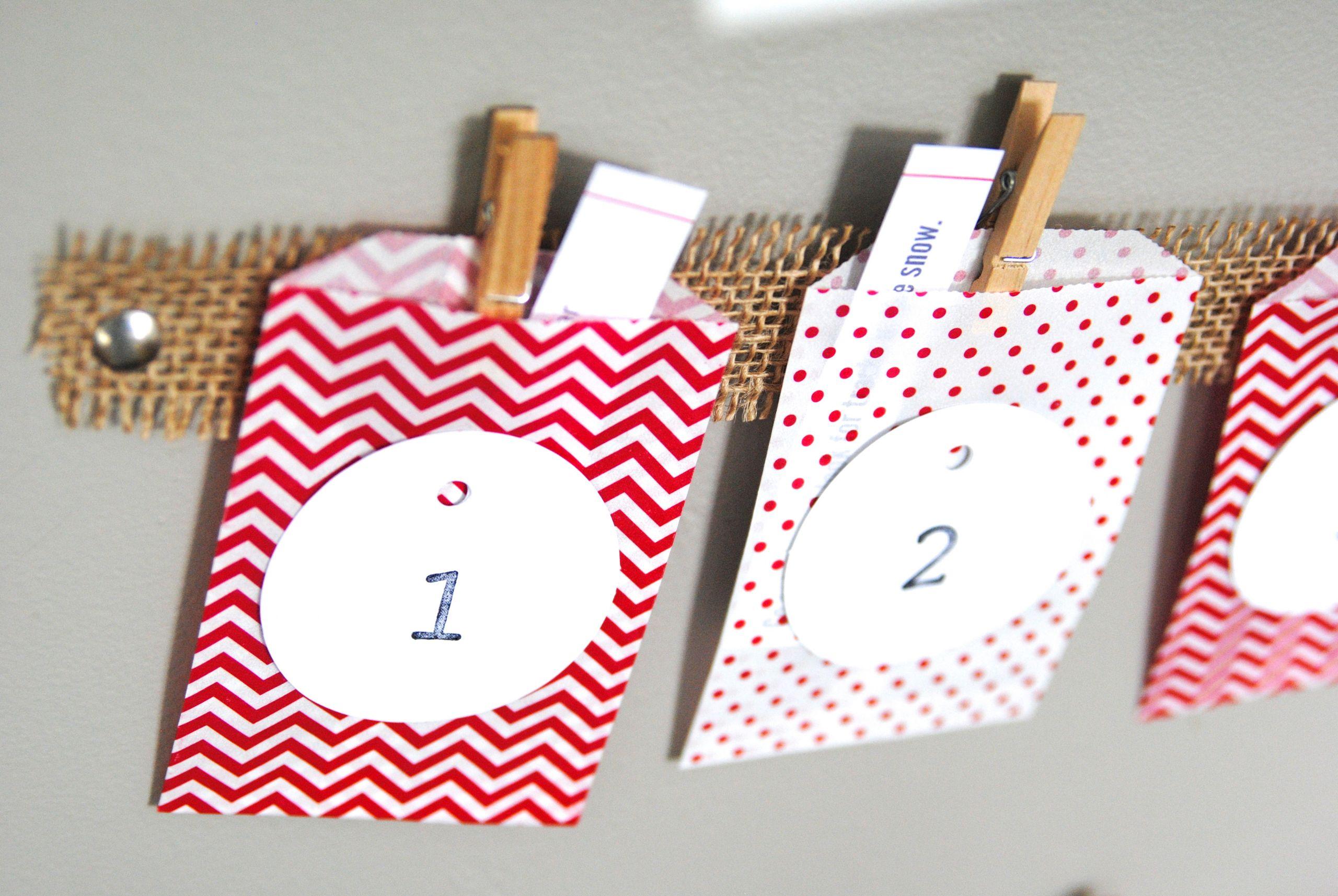 DIY Advent Calendars For Kids  Easy Christmas Advent Calendar Kids Craft Idea