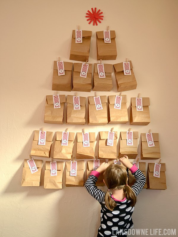 DIY Advent Calendars For Kids  Last minute DIY advent calendar FREE printable number