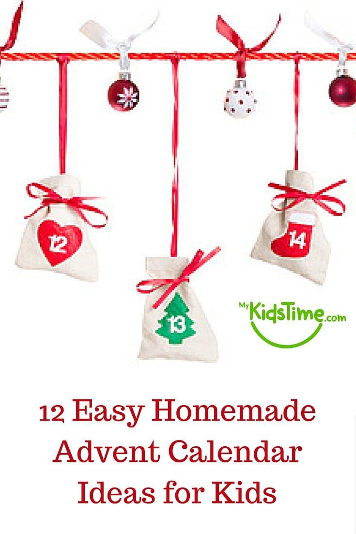 DIY Advent Calendars For Kids  12 Easy Homemade Advent Calendar Ideas for Kids