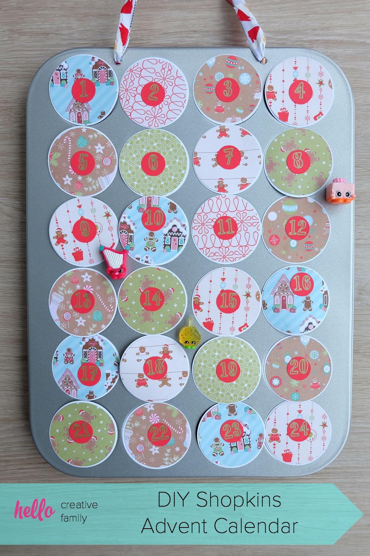 DIY Advent Calendars For Kids  DIY Shopkins Advent Calendar Hello Creative Family