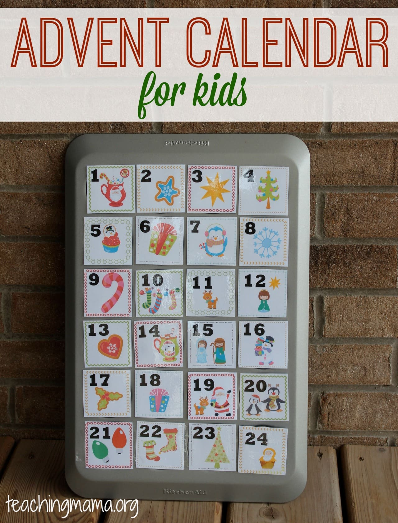 DIY Advent Calendars For Kids  Top 10 DIY Printable Advent Calendar Ideas for Christmas