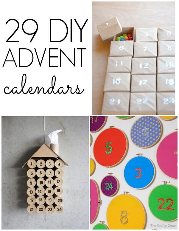 DIY Advent Calendars For Kids  29 DIY Advent Calendars C R A F T