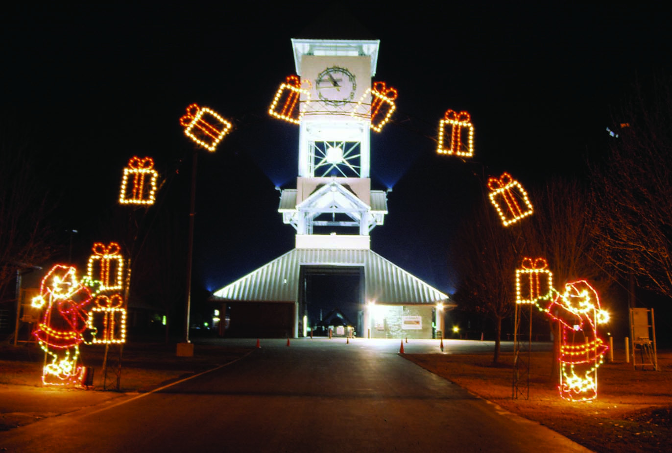 DIY Animated Christmas Decorations  mercial Lighted Arches for Drive Thru Parks and City