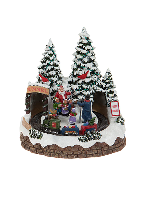 DIY Animated Christmas Decorations  Animated Village Scene LED Train House Christmas