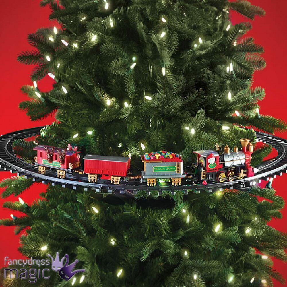 DIY Animated Christmas Decorations  Mounted Christmas Tree Train Festive Light Up Sound