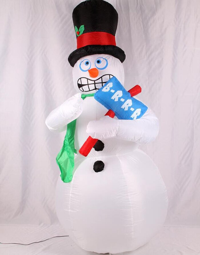 DIY Animated Christmas Decorations  Christmas Decor 2 1M Inflatable Animated Shivering Snowman