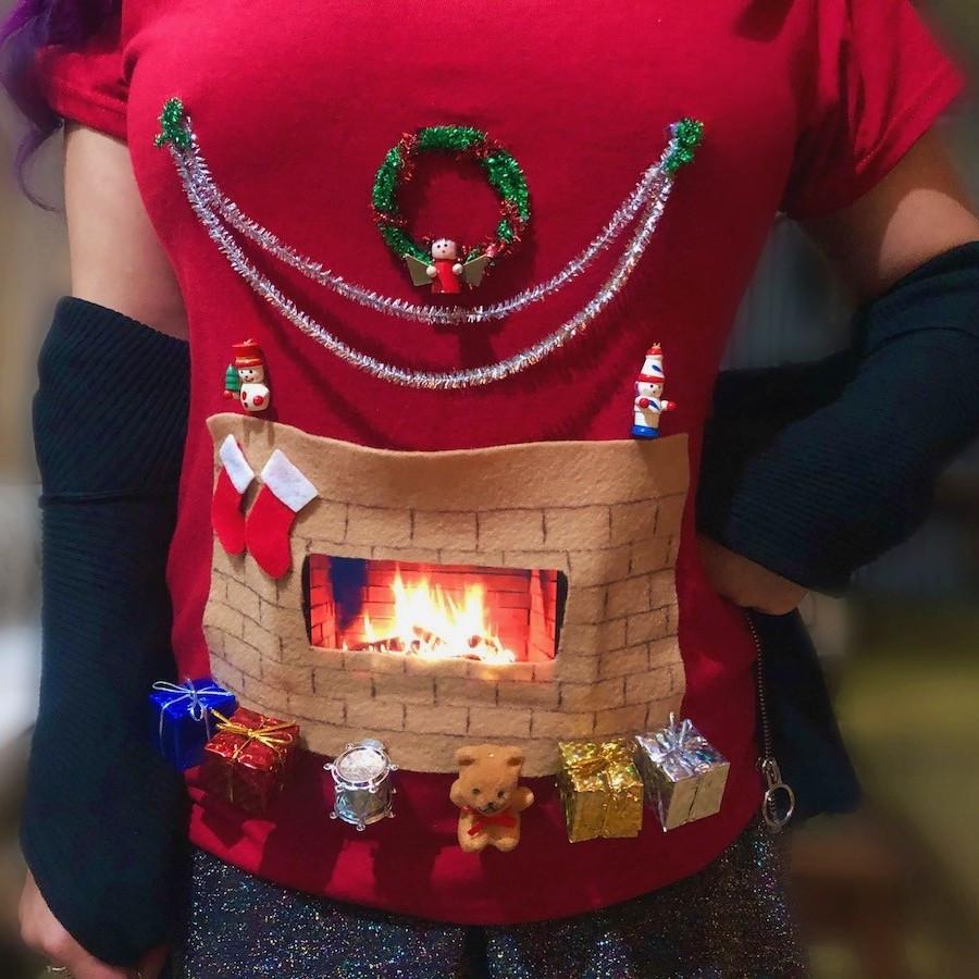 DIY Animated Christmas Decorations  DIY Animated Christmas Hearth Shirt