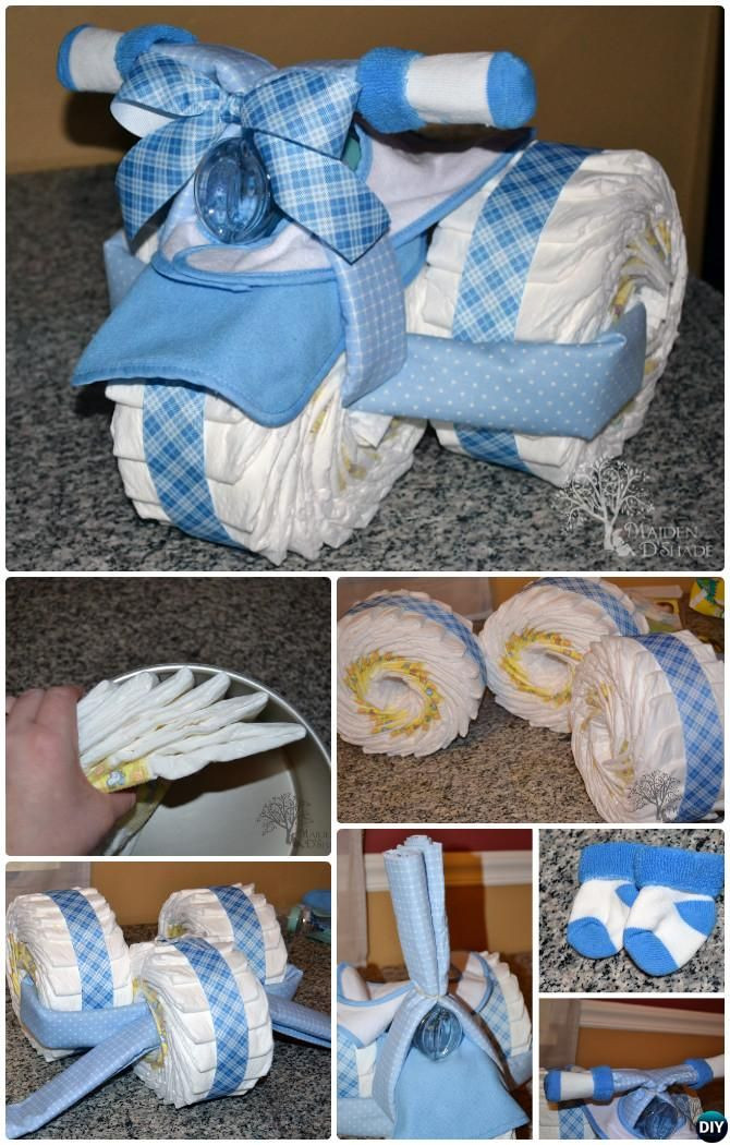Diy Baby Shower Gift Ideas For Boys  DIY Tricycle Diaper Cake Baby Gifts Handmade Baby Shower